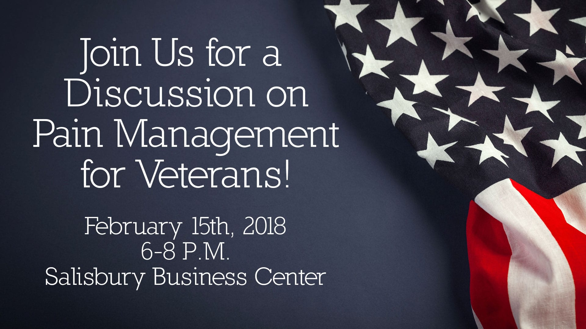 Pain Management for Veterans Event